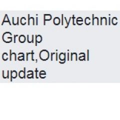 Group logo of Auchi Polytechnic Group chart, Original update